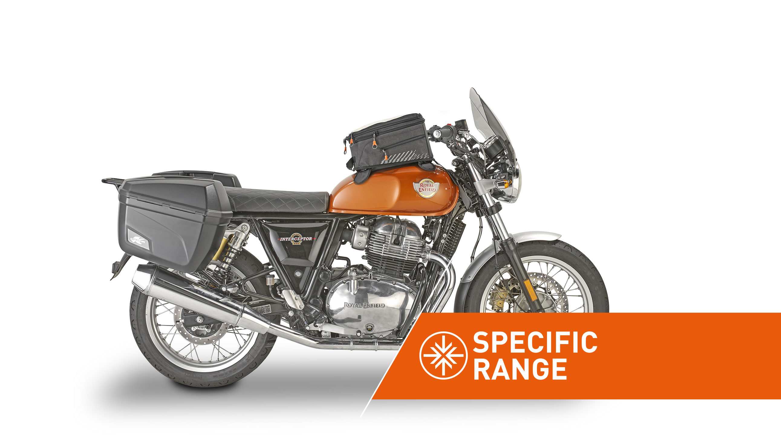 Linea di accessori specifica per ROYAL ENFIELD INTERCEPTOR 650 by KAPPA MOTO